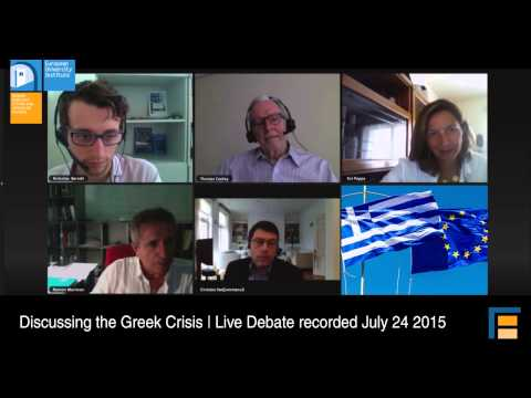 Discussing the Greek Crisis: is debt relief inevitable?