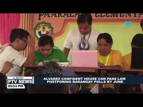 House Speaker Alvarez confident House can pass law postponing Barangay polls by June