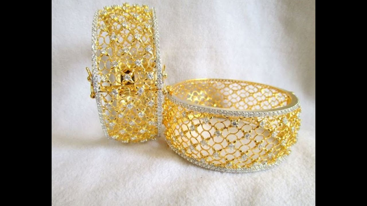 gold plated bangles - YouTube
