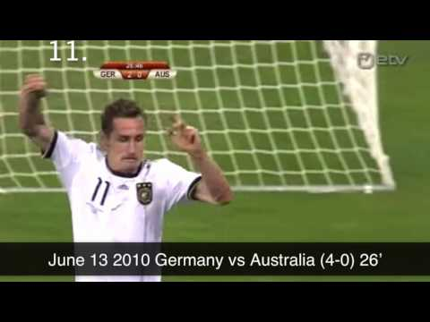 Miroslav Klose's 16 World Cup Goals HQ