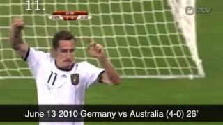 Download Video Miroslav Klose's 16 World Cup Goals HQ MP3 3GP MP4