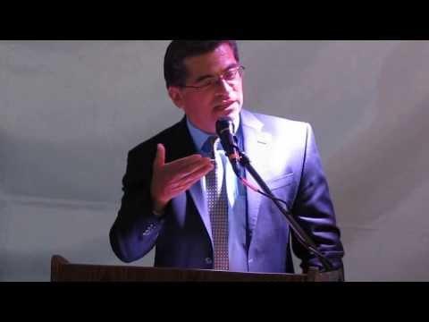Congressman Xavier Becerra speaks at Grand Opening of Gateways Apartments for the homeless