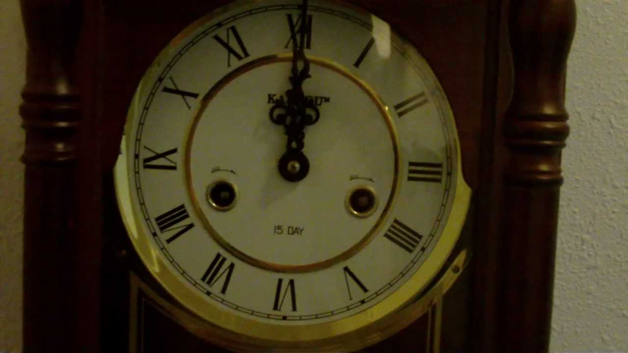 Kassel 15 Day Mechanical Clock Striking Midnight Youtube