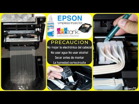EPSON ecoTank /Limpieza Manual inyectores *4K