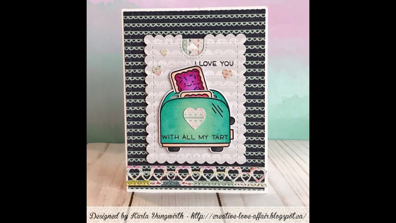 Lawn Fawn Let S Toast Pop Up Valentine Card Youtube