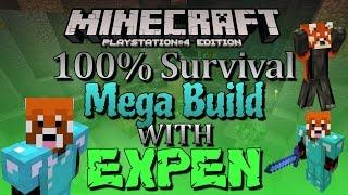 Minecraft 100% Epic Survival Underworld/How To Build OP GoldFarm part 1 /B-Day! [PS4]