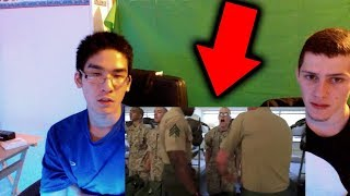 REACTING TO - Marine Corps Boot Camp – Drill Instructors From Hell