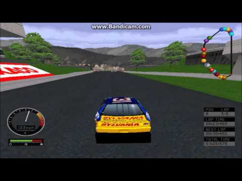 NASCAR Road Racing (PC) Gameplay (Mike Skinner) (Bridgeport Speedway) (5 Laps)