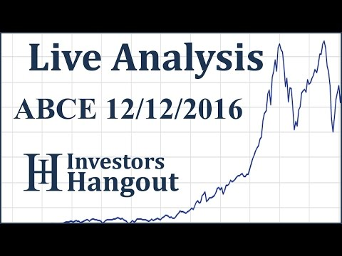 ABCE Stock Live Analysis 12-12-2016