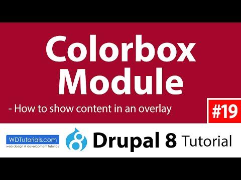 Colorbox (Drupal 8 Tutorial #19)