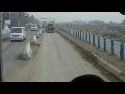 Iraq - Driving through a security checkpoint (HD)