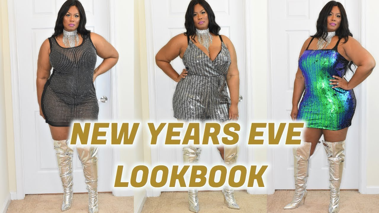 NEW YEARS EVE PLUS SIZE PARTY DRESS LOOKBOOK | FOREVER21+ - YouTube