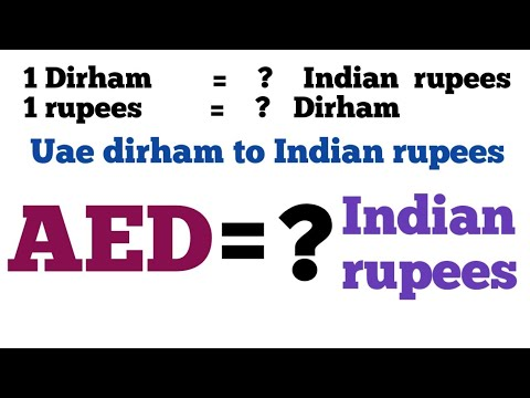 Uae To Inr I United Arab Emirates Dirham To Indian Rupees Exchange Rate Today | Aed To Inr
