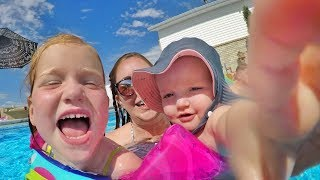4th Of July Family Routine Party At The Park Face Paint Swimming Pool  And Fireworks With Kids