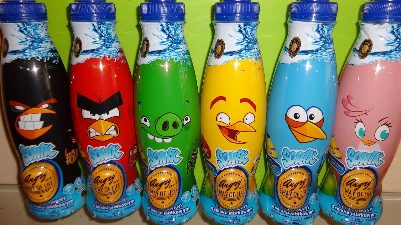 Download Angry Birds Surprise Eggs in Drink with 3D Toys for Boys & Girls Huevos Sorpresa