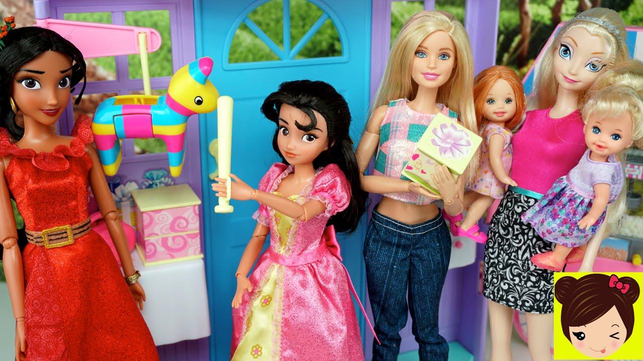 Barbie y Elsa ayudan a Elena de Avalor a prepar la Fiesta ...
