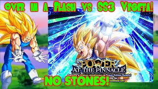 Over In A Flash VS SS3 Vegeta 40 Stamina Event No Stones! DBZ Dokkan Battle