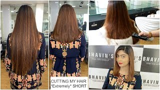 CUTTING MY HAIR *Extremely* SHORT | Rinkal Soni
