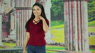 Latest  Cotton Maroon T-Shirts for Girls
