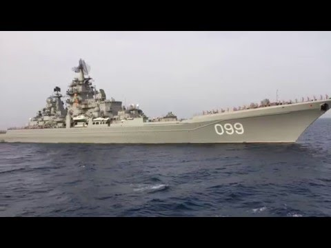 Russia´s biggest warship Kirov Class Salute part 2