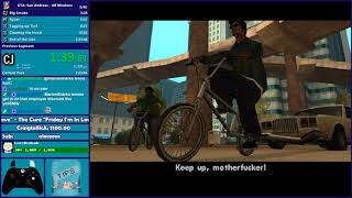 GTA San Andreas All Missions Speedrun - Hugo_One Twitch Stream - 10/19/2017