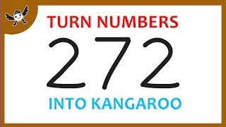 """How To Turn Numbers """"272"""" into Cartoons KANGAROO – Learn Drawing Art on Paper for Kids ✔"""
