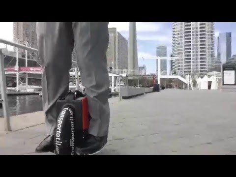 Imagine yourself riding the One-wheel Scooter at the Toronto waterfront