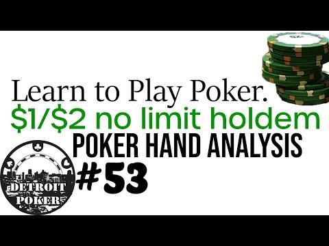 Poker Strategy - $1/$2 No Limit Holdem - Poker Vlog #53 Poker Student Hand Analysis By Detroit Poker