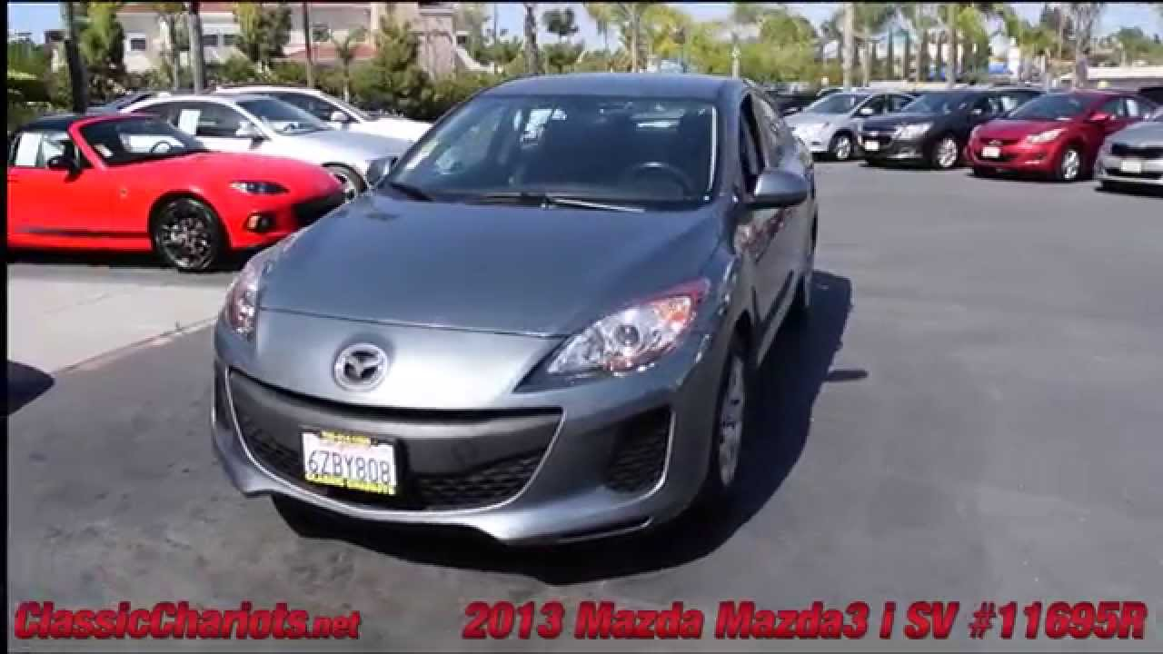used 2013 mazda mazda3 i sv for sale in vista at classic chariots 11695r youtube. Black Bedroom Furniture Sets. Home Design Ideas