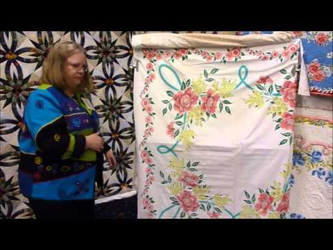 Machine Quilted Vintage Tablecloth
