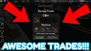 THE BEST TRADES EVER!!! (ROBLOX ASSASSIN)