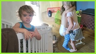 SISTER LEARNS TO DRESS BABY BROTHER!