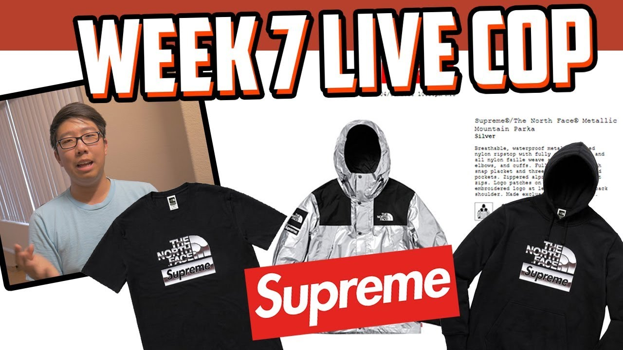 742b02554935 I COPPED EVERYTHING!! SUPREME x NORTH FACE SS18 WEEK 7 LIVE COP ...