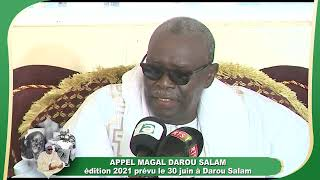 Appel Magal Darou Salam Édition 2021