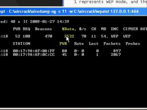 How To Hack WEP Secured Networks With Aircrack -ng - Tutorial