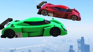 TRY TO SURVIVE THIS JUMP! (GTA 5 Funny Moments)