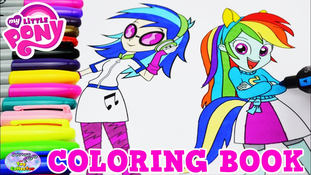 Mlp coloring pages dj pon 3 - My Little Pony Coloring Book Dj Pon 3 Rainbow Dash Mlpeg Episode Surprise Egg And Toy Collector Setc
