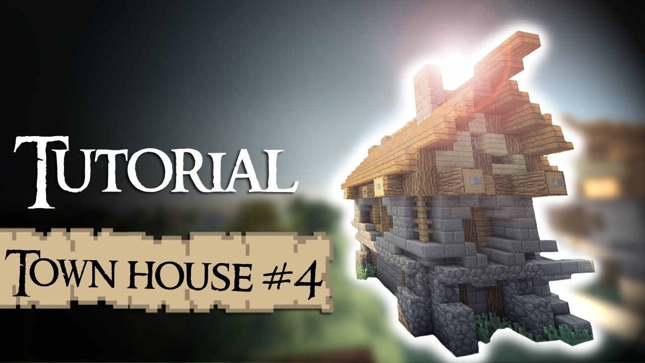 Minecraft tutorial medieval town house frank youtube for Classic house tutorial