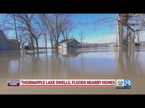 Thornapple Lake swells, floods nearby homes