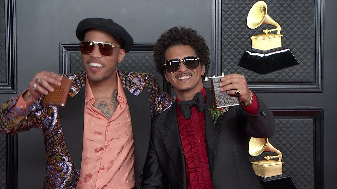 Download Bruno Mars and Anderson .Paak on the Red Carpet I 2021 Annual GRAMMY Awards