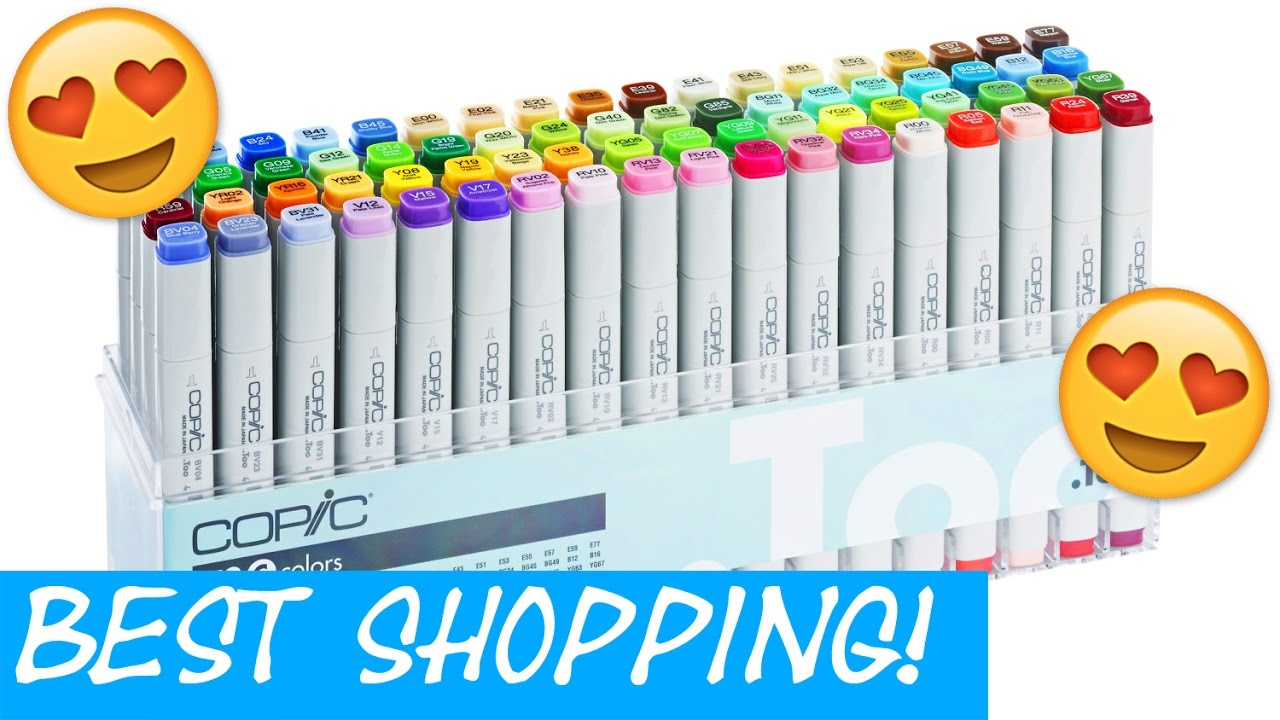 BEST COPIC MARKER SHOPPING STORE TOKYO Japan art supplies haul Copic Sketch