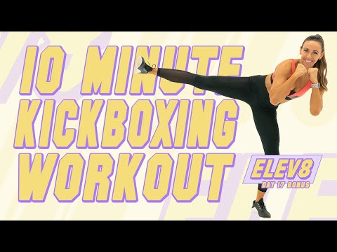 10 Minute Cardio Kickboxing Workout! Sydney Cummings