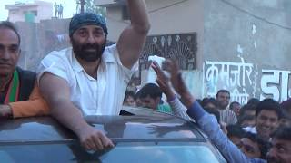SUNNY DEOL and SATYAPAL SINGH  roadshow/rally in CHHAPRAULI constituency during LOKSABHA elections
