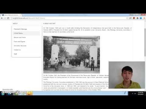 Hanoi National University of Education - introduces