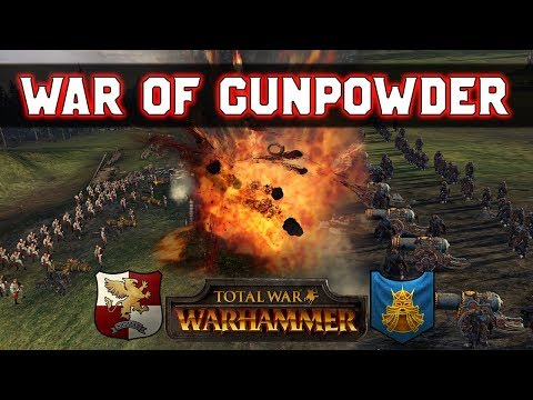 The Great Gunpowder War: Dwarfs x3 vs. Empire x3 | Total War: Warhammer