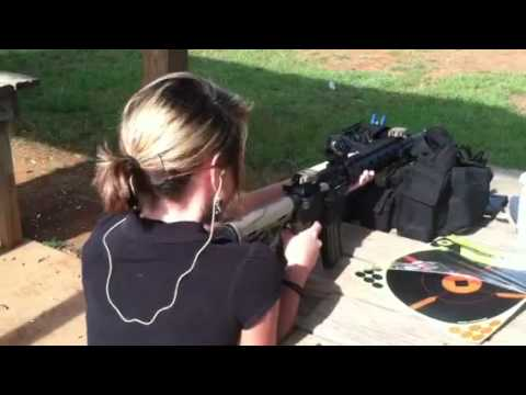 My girl shooting the DDM4V7