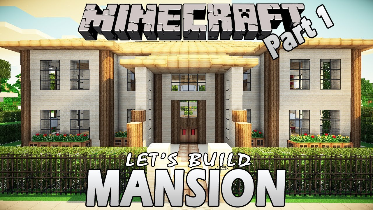 Minecraft How To Build A Mansion Part 1 Tutorial YouTube