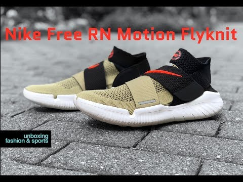Nike Free Rn Motion Flyknit Olive White Unboxing On Feet Running Shoes 2018 4k Youtube