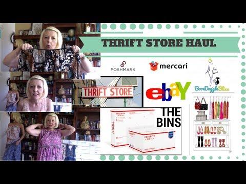 BIG THRIFT HAUL - Plus Size Clothing - What did I buy to sell on eBay, Poshmark & Mercari