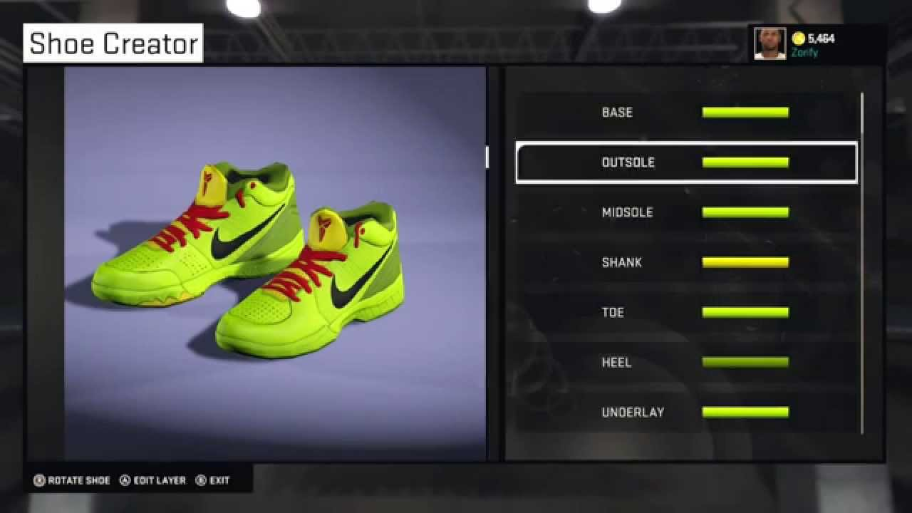 adea860be374 ... where to buy nba 2k15 shoe creator nike kobe 4 custom grinch 2fe63  1b530 ...